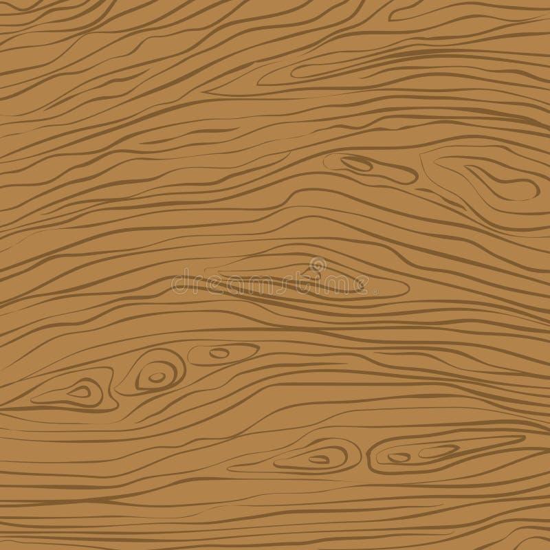 Коричневая квадратная деревянная резка, рубка, столовая или полевая поверхность Деревянная текстура Иллюстрация вектора иллюстрация вектора