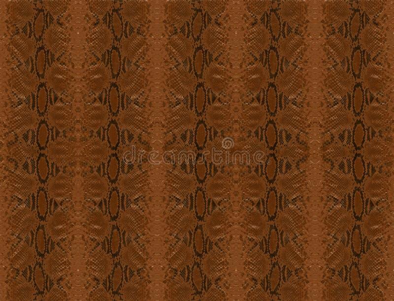 коричневая кожа питона иллюстрация вектора
