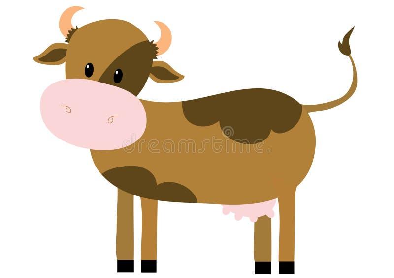коричневая корова иллюстрация вектора