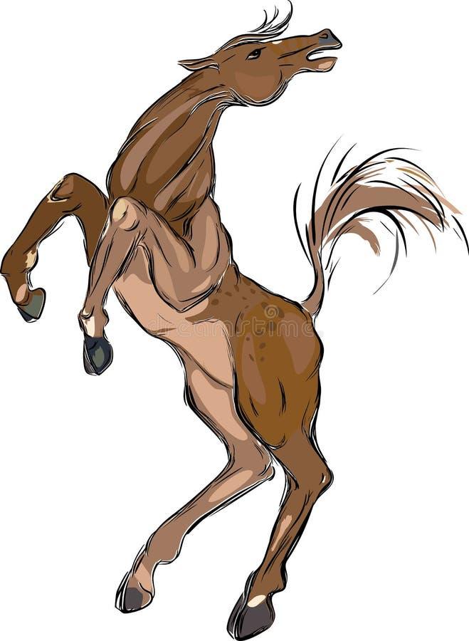 коричневая лошадь иллюстрация штока