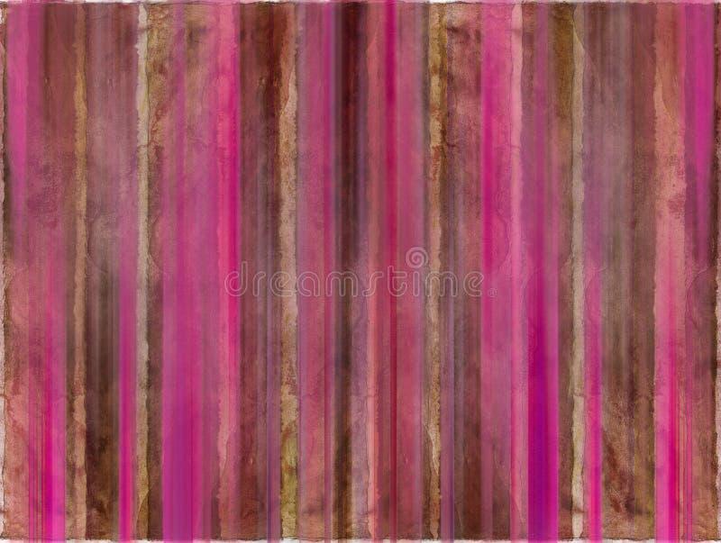 коричневая розовая акварель мытья нашивок стоковое фото rf
