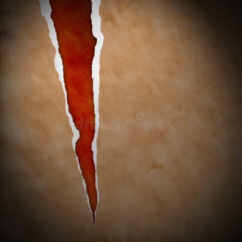 коричневая сорванная бумага иллюстрация штока