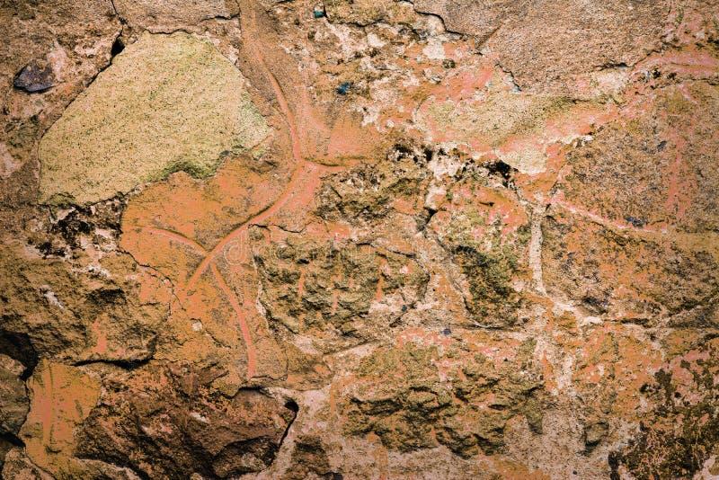 коричневая grungy стена стоковая фотография rf