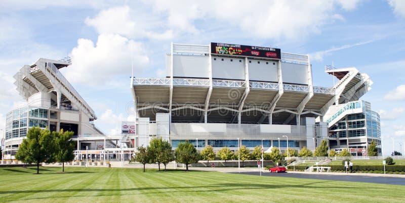 коричневеет стадион cleveland стоковые изображения