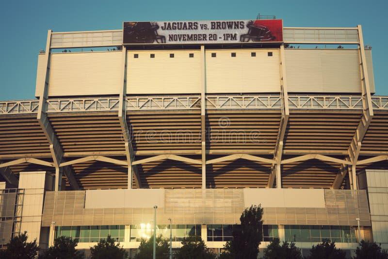 коричневеет стадион cleveland стоковые фото