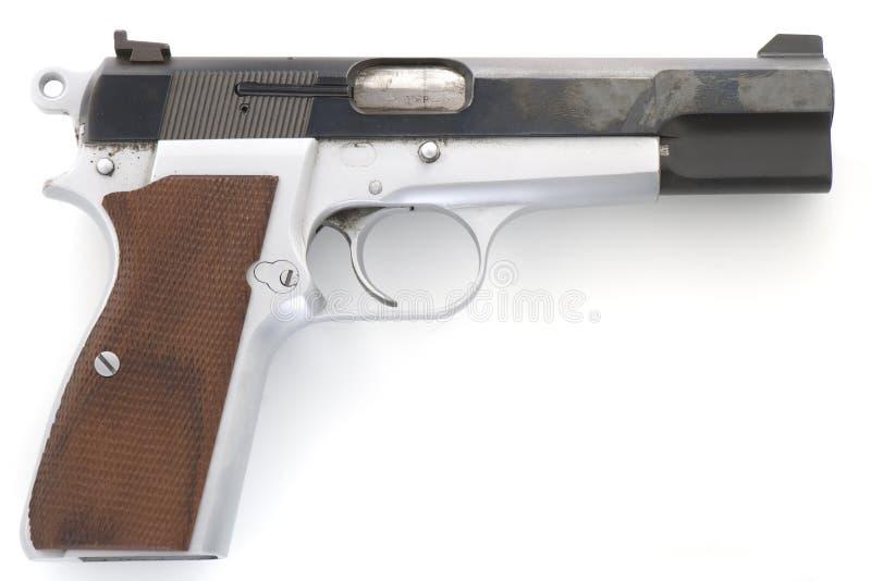 Коричневеть пистолет высок-силы 9mm стоковое изображение rf