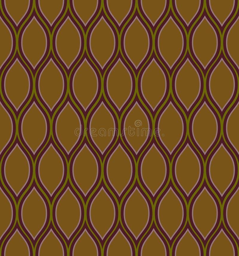 коричневое волнистое иллюстрация вектора
