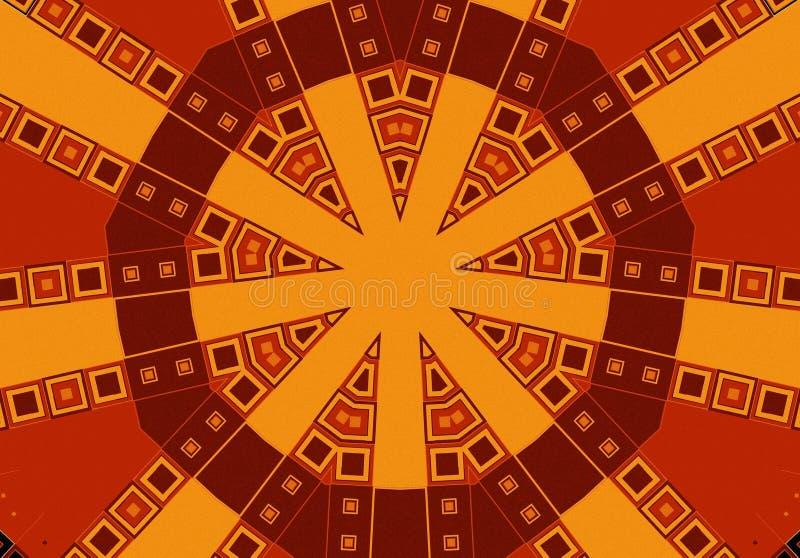 коричневое золото делает по образцу соплеменное иллюстрация вектора