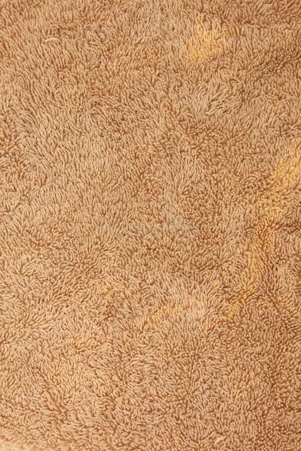 коричневое полотенце текстуры хлопка стоковые фотографии rf