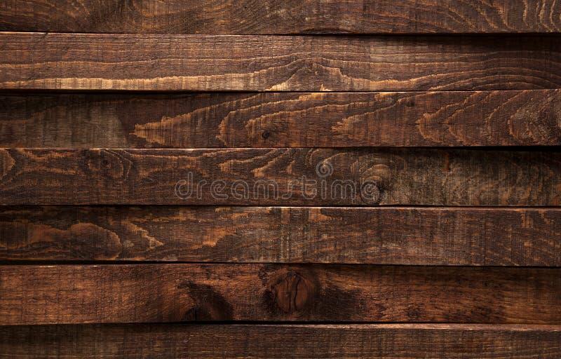 коричневое плотное строение вверх по древесине Панели предпосылки темные старые деревянные стоковые фотографии rf