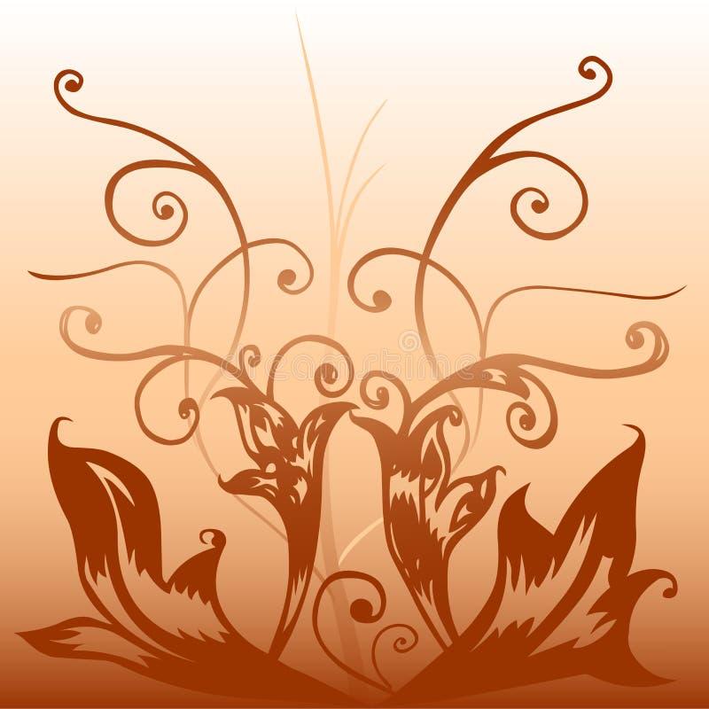 коричневое deco иллюстрация штока