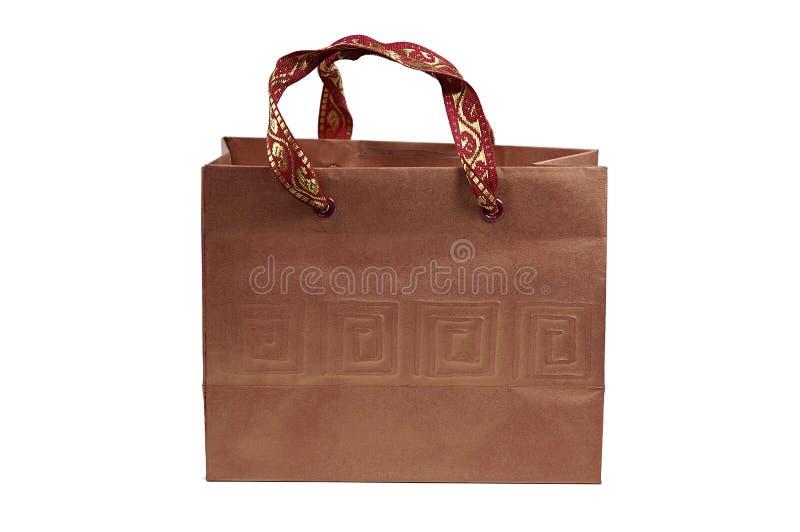 коричневое giftbag стоковая фотография rf