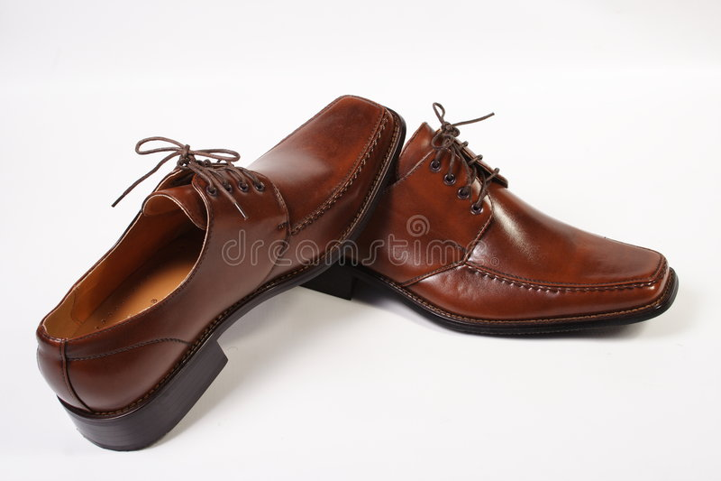коричневые ботинки стоковые изображения rf