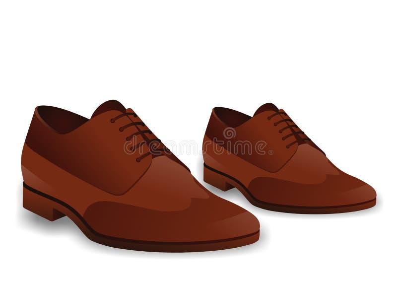 коричневые ботинки иллюстрация вектора