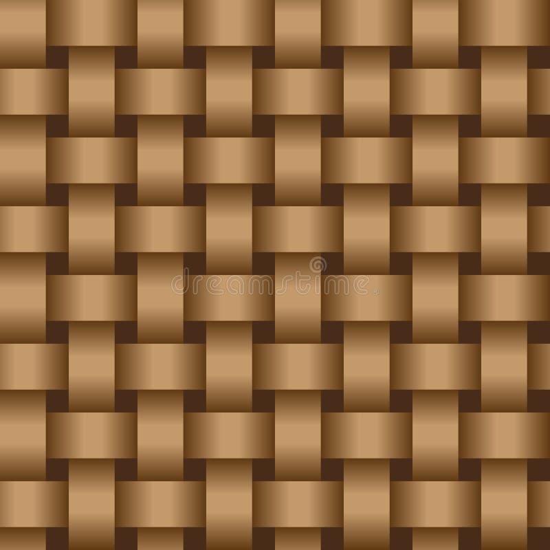 коричневые вплетая ленты eps8 текстурируют вектор иллюстрация штока