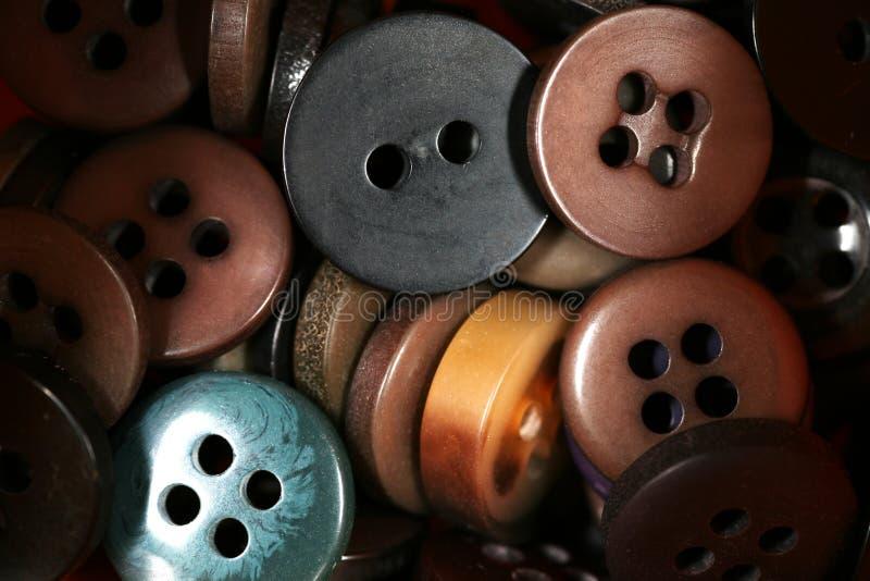 коричневые кнопки стоковое изображение rf