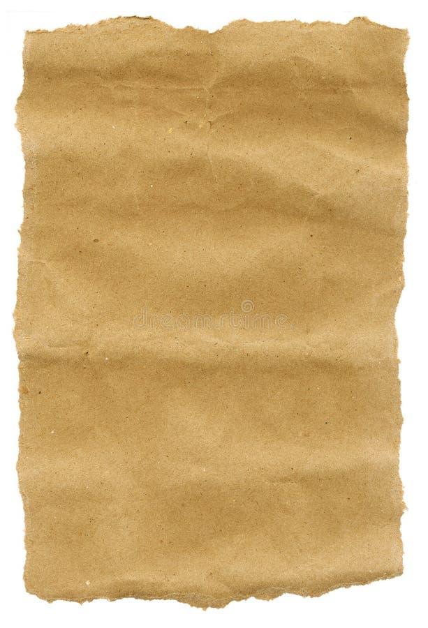 коричневые края завертывают в бумагу сорвано стоковые изображения