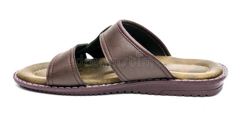 Коричневые туфли, изолированные на белом фоне стоковая фотография