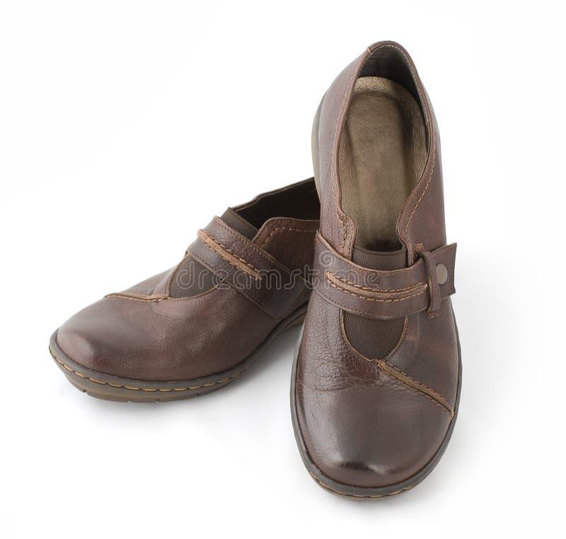 коричневый гулять ботинок стоковые фотографии rf