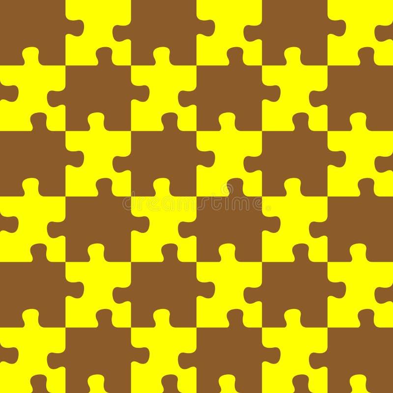 коричневый желтый цвет головоломки иллюстрация вектора
