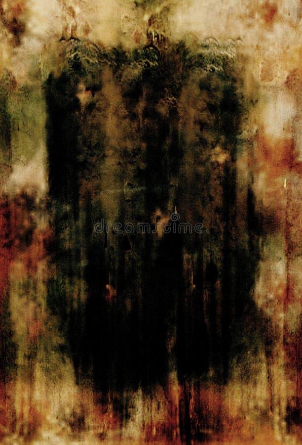 коричневый ожог готский иллюстрация штока