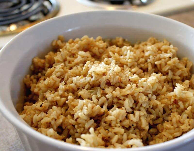 коричневый рис стоковое изображение