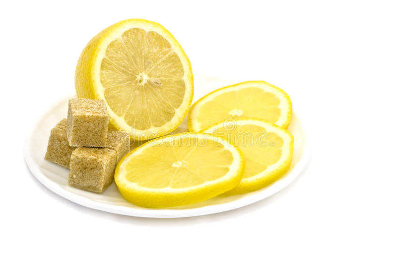 коричневый сахар плиты лимона стоковая фотография rf