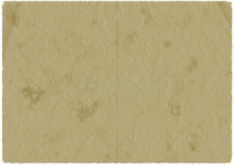 коричневый старый бумажный пергамент иллюстрация штока