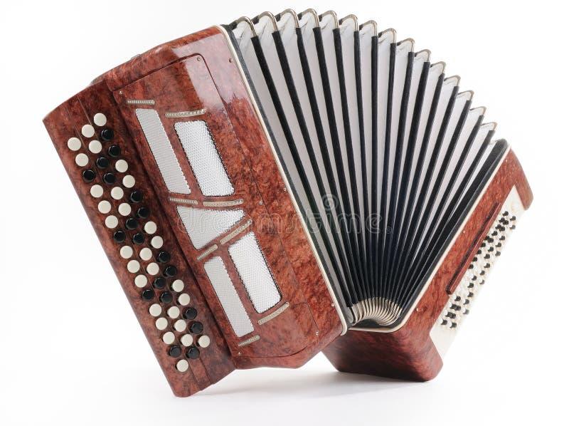 коричневый цвет аккордеони bayan стоковое фото rf
