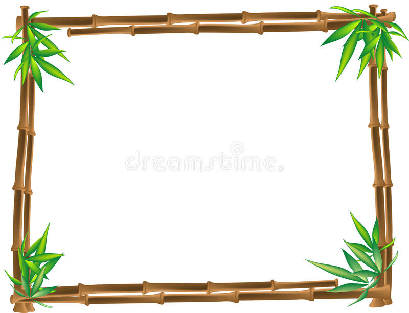 коричневый цвет бамбука иллюстрация штока