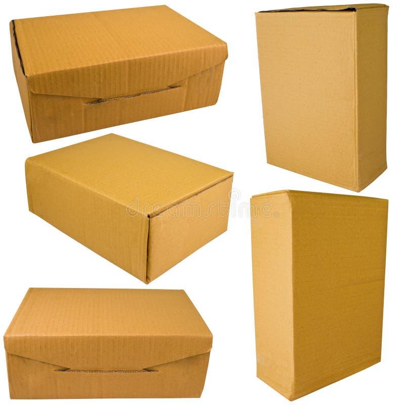 коричневый цвет коробки стоковые изображения rf