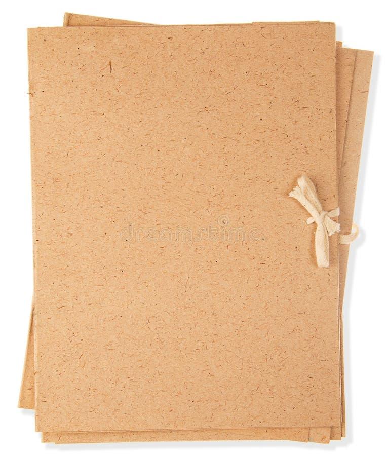 коричневый цвет, папки картона стоковая фотография rf