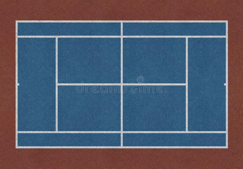Коричневый цвет поля тенниса голубой бесплатная иллюстрация