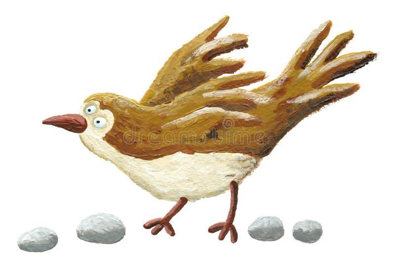 коричневый цвет птицы иллюстрация вектора