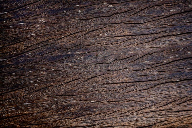 Коричневый цвет старой деревянной текстуры темный стоковые изображения