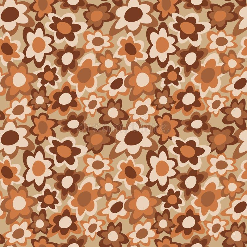 коричневый цвет цветет в стиле фанк иллюстрация штока