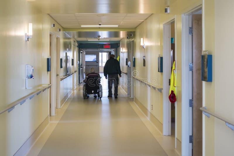 Коридор больницы стоковые изображения rf