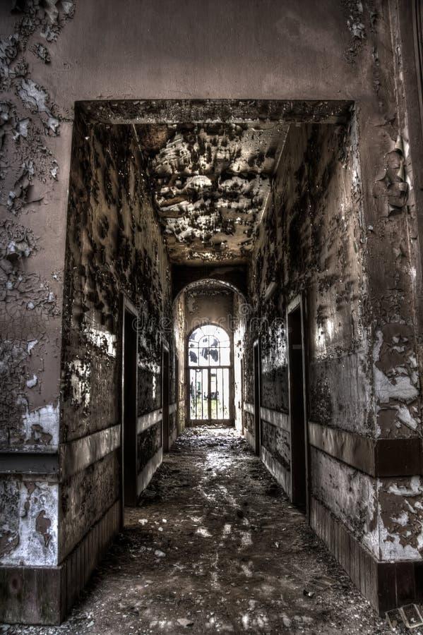Коридор здания ямы шахты стоковое фото