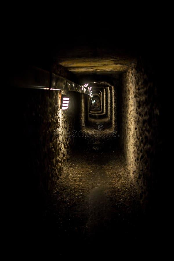Коридор катакомб Парижа стоковое фото