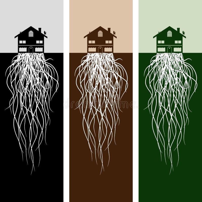 корни дома бесплатная иллюстрация