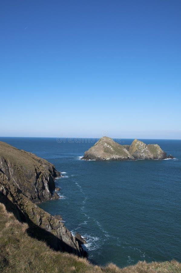 Корнуольская береговая линия стоковая фотография rf