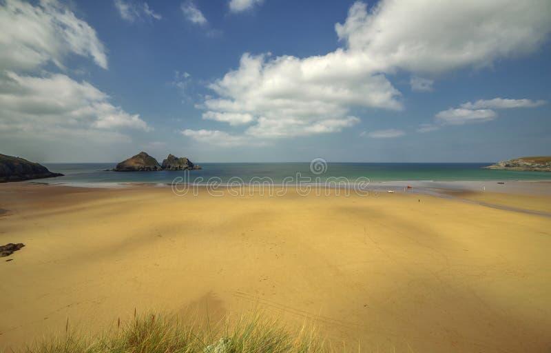 Корнуольская сцена пляжа стоковое изображение