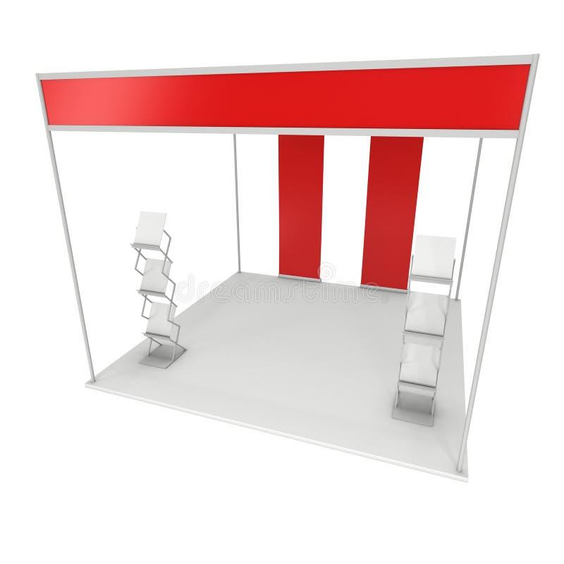 Коробка будочки торговой выставки и шкаф кассеты и свертывают вверх бесплатная иллюстрация