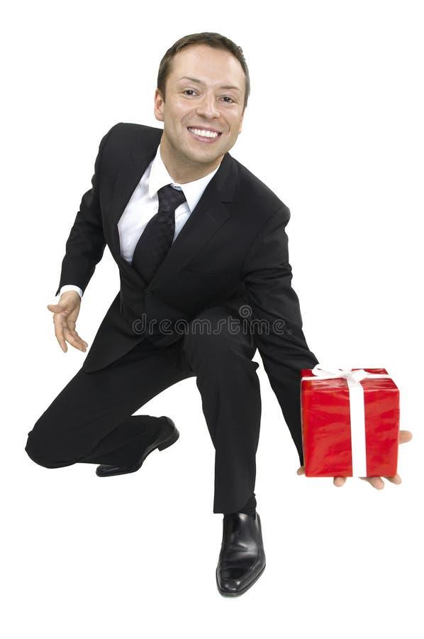 коробка вручила человека стоковые изображения rf