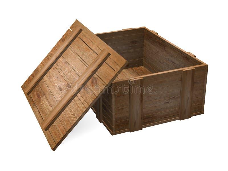 коробка деревянная иллюстрация вектора
