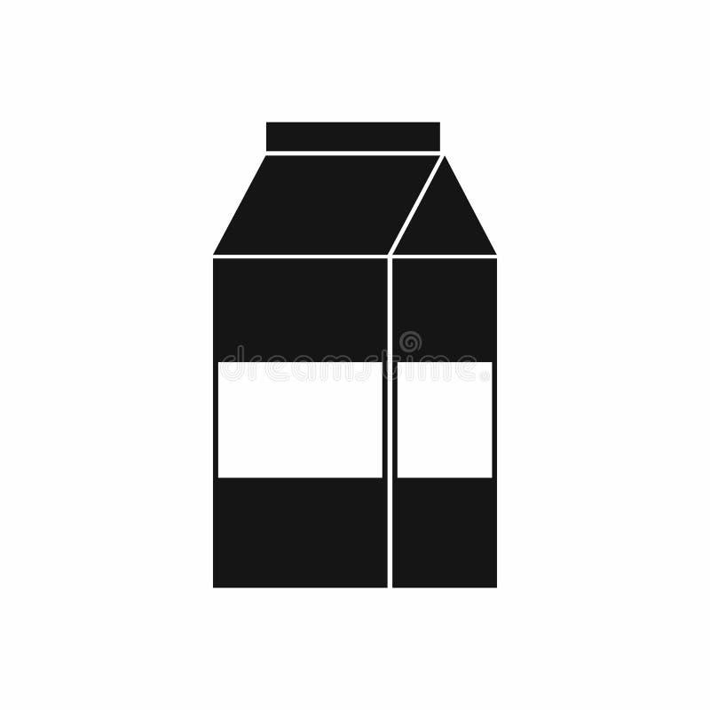 Коробка значка молока, простого стиля иллюстрация штока