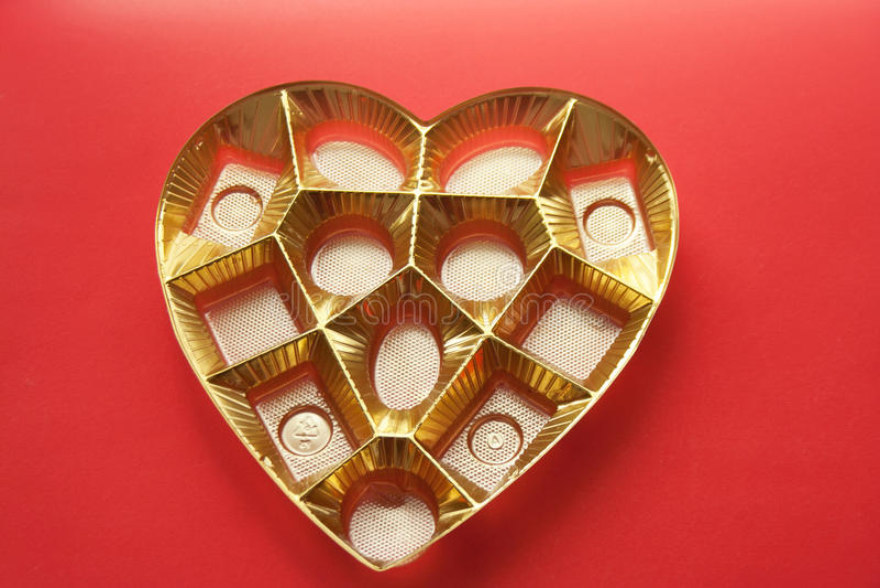 Коробка и олово сердца стоковая фотография