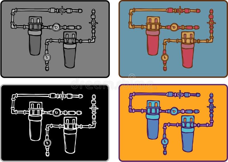 Download Коробка и трубка метра иллюстрация вектора. иллюстрации насчитывающей черный - 41659797