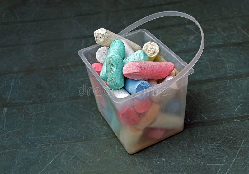 Коробка мел colorfull стоковая фотография