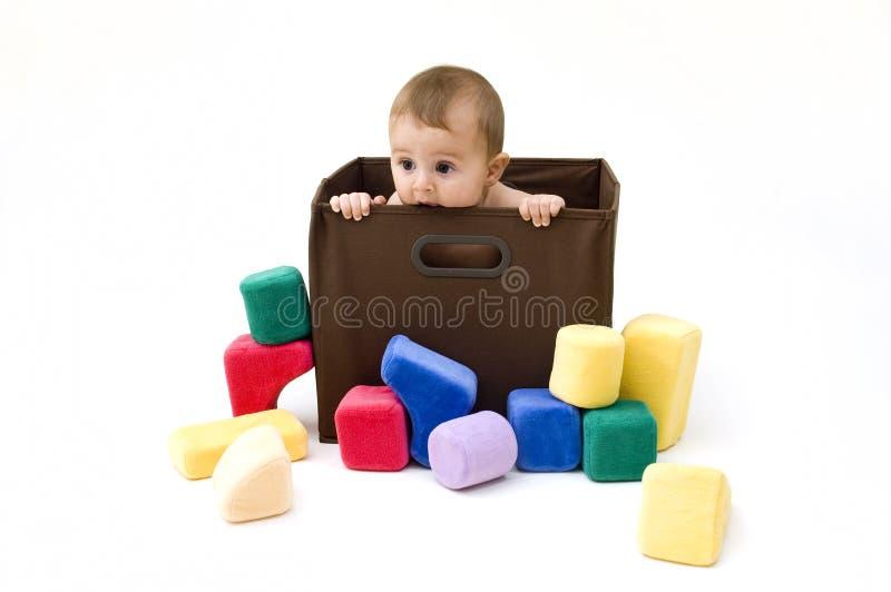 коробка младенца милая стоковое фото rf
